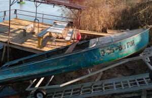 подъем лодки